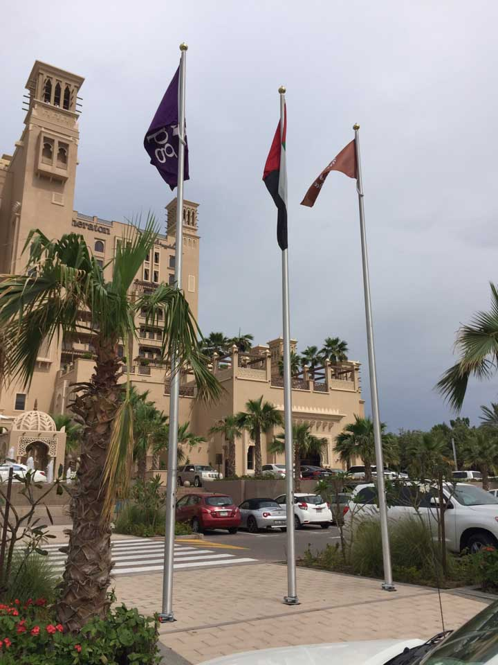 flagpole installer dubai